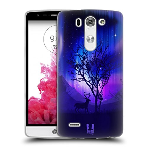 Head Case Designs Northern Lights Forest Grove Soft Gel Back Case Cover for LG G3 Beat D722K S D722 Vigor D725 (Lg G3 S D722 Case compare prices)
