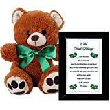 Irish Blessing Gift for an Anniversary, St Patrick s Day or Birthday - 4x6 Inch Black Frame and Plush 10 Inch Teddy Bear
