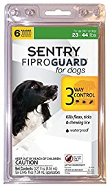SENTRY Fiproguard Topical Flea and Tick Protection for Dogs, 23 to 44-lbs 6 Dose
