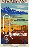 TR9 Vintage New Zealand Queenstown Travel Poster Re-Print - A4 (297 x 210mm) 11.7