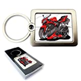YAMAHA R1 SUPER BIKE RED Motor Bike Car Koolart Quality Solid Metal Keyring With Gift Box