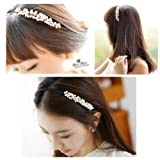 HuaYang Korean Fashion Sweet Girls Small Imitation Pearls Headband Hairpin Hair Band