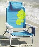 Cadeira de praia de alum�nio da posi��o do peso leve 5 de Nautica com descanso da garganta
