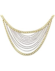Viva European Gorgeous Multi Strand 18ct Gold & Rhodium Plated Chain Necklace By Viva The Company For Women