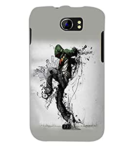PrintDhaba Hip Hop Dance D-1455 Back Case Cover for MICROMAX A110 CANVAS 2 (Multi-Coloured)