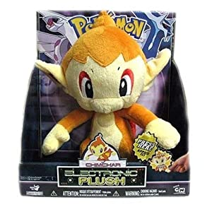 Jakks Pacific PokeMon 11 Inch Tall Electronic Plush Action Figure - CHIMCHAR that Speaks