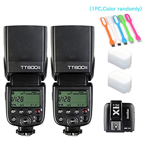2X-Godox-TT600S-HSS-Built-In-24G-Wireless-X-System-Flash-Speedlite-for-Sony-Multi-Interface-MI-Shoe-CamerasGodox-X1T-S-Remote-Trigger-Transmitter-2X-Diffuser-HuiHuang-USB-LED-free-gift