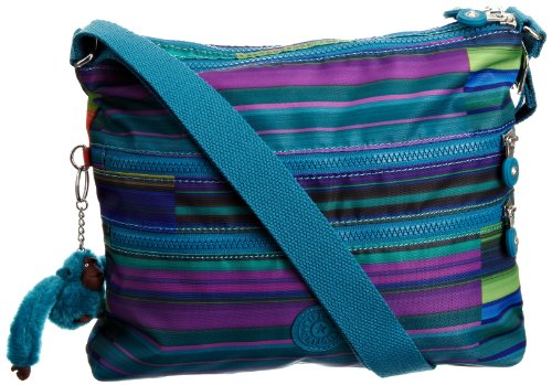 Kipling Women's Alvar Shoulder Bag Summer Stripe