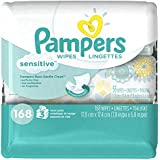 Pampers Sensitive Wipes 3x Travel Pack 168 Count