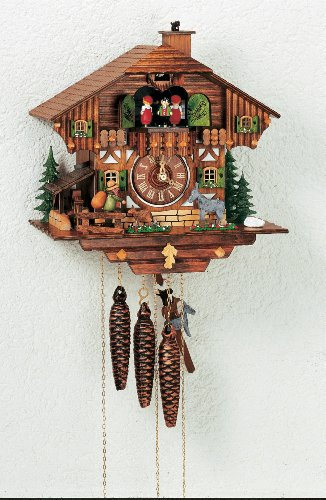 Schneider Black Forest 11 Inch Musical Town Musicians of Bremen Cuckoo Clock