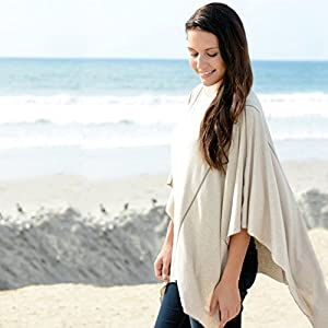 Solana Nursing Cover By Dria: Premium Breastfeeding Poncho made with Organic Modal Fabric.