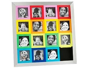 PT PT1384 Cadre Photo Puzzle Multicouleur Plastique et Alu 15 Photos