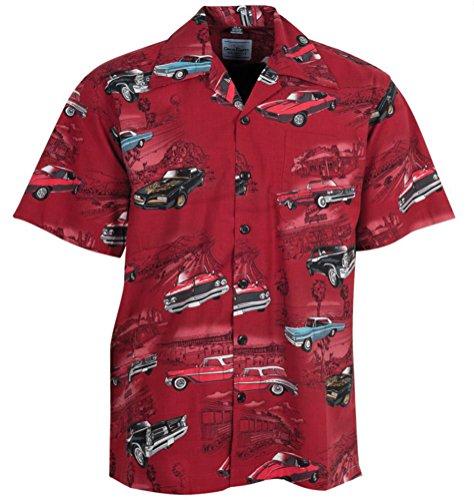 Pontiac Firebird GTO Classic Cars Hawaiian Camp Shirt by David Carey (XL) (Pontiac Gto Shirt compare prices)