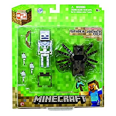 5 X Minecraft MINECRAFT- Spider Jockey Pack Action Figure from Jazwares Domestic