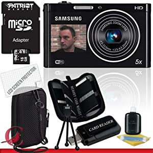 Samsung DV300F Digital DualView Camera (Black) 16GB Package 2
