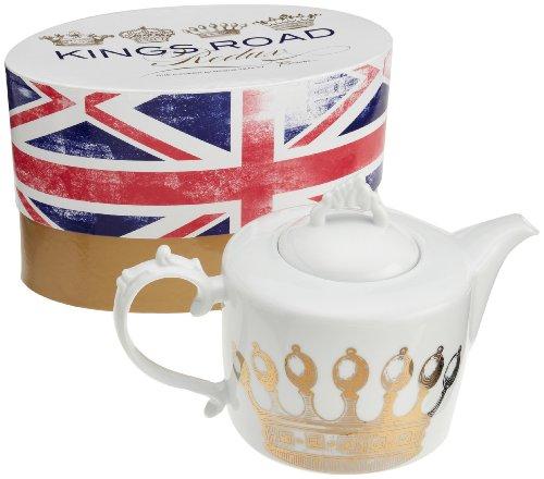 Rosanna Kings Road Redux Teapot (White Modern Teapot compare prices)