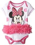 Disney Baby-Girls  Minnie Mouse White Tutu Creeper