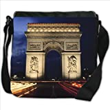 Arc De Triomphe Paris France Small Denim Shoulder Bag / Handbag