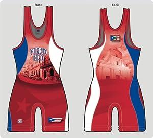 Buy Puerto Rico Red Wrestling Singlet by Brute