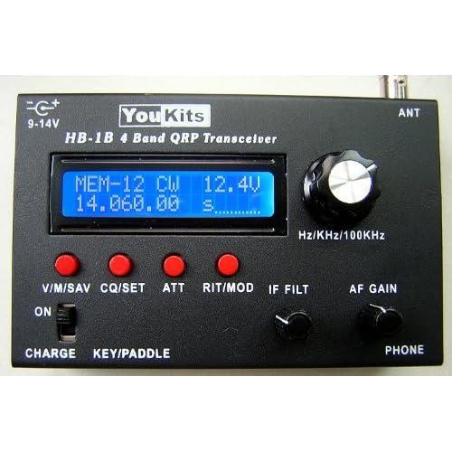 &Info Youkits HB1B MK2 HF 4 Band QRP CW transceiver