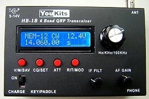 Youkits HB1B MK2 HF 4 Band QRP CW transceiver