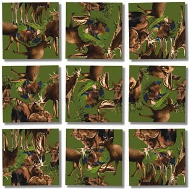 Scramble Squares Puzzle Moose! - 1