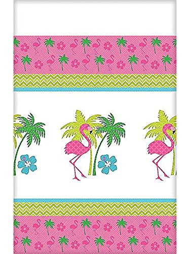 Flamingo Fun Plastic Table Cover (Each)