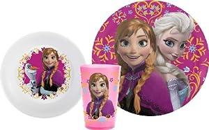 Disney's Frozen Mealtime 3-Piece Set by Zak Designs, Plate, Bowl & Tumbler