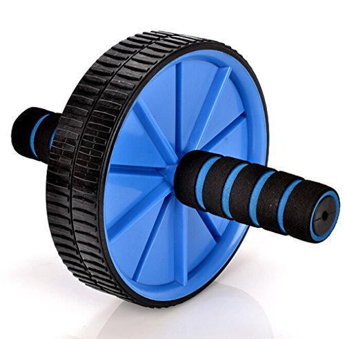 Faswin-Ab-Wheel-Roller-stretch-and-Strengthen-Your-Abs-Core-Arms-Back-and-Legs-Blue