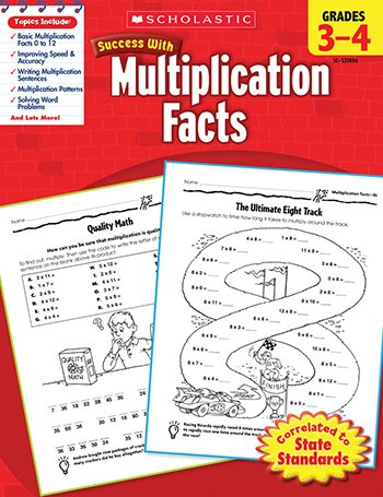 Quality value Scholastic Success Multiplication By Scholastic Teaching Resources - 1