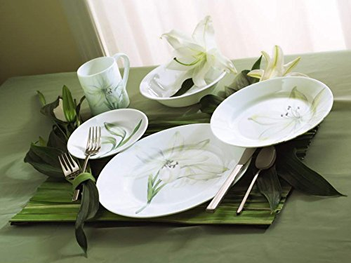 Corelle Impressions ... & Corelle Impressions White Flower 16-Piece Dinnerware Set Service for 4