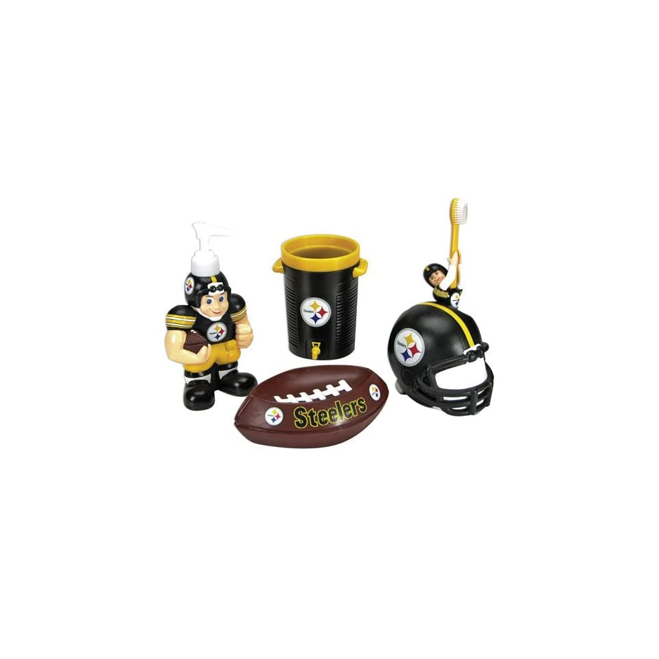 NFL Pittsburgh Steelers Football 5 Piece Bathroom Set