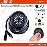 Jenix CCTV Dome 24 IR Night Vision Camera DVR With Memory Card Slot Recording (BNC)