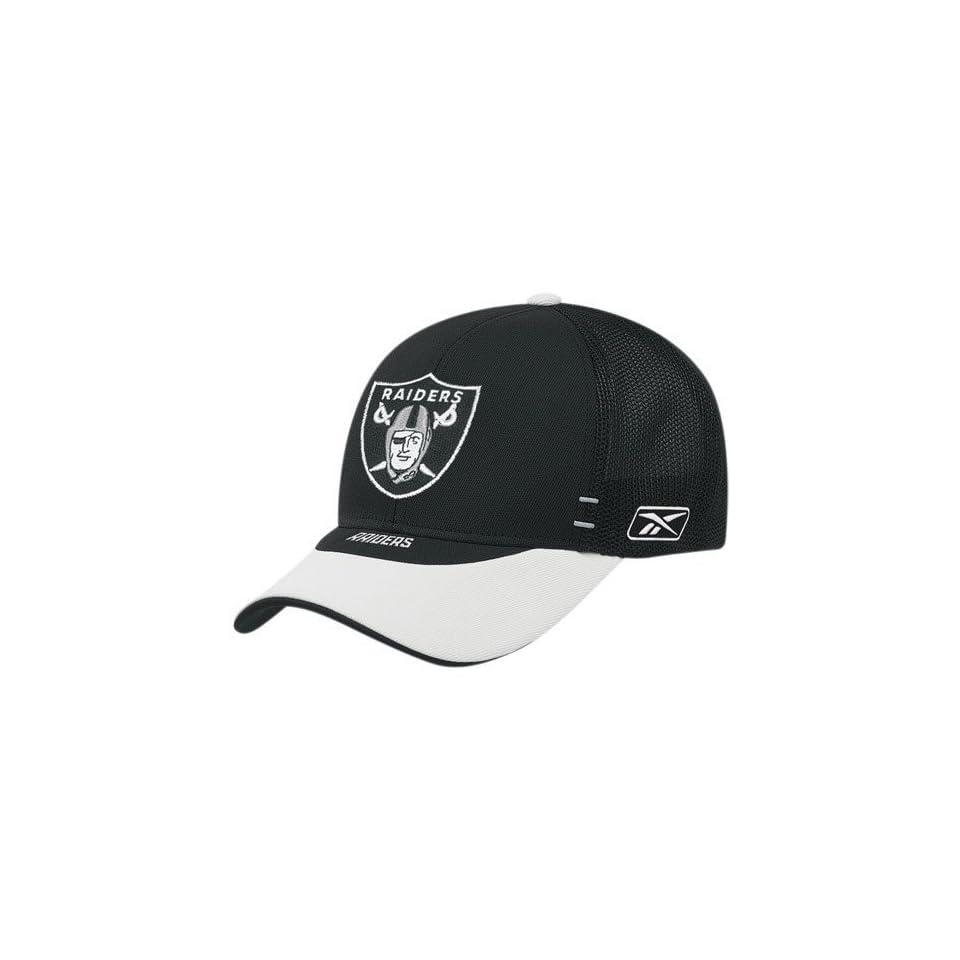6c14327e5cb Reebok Oakland Raiders Youth Black Draft Day Alternate Flex Fit Hat ...