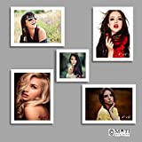 "5 Pc White Photo Frame Wall Collage, 4Pc 4"" X 6"", 1Pc 4"" X 4"""