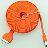 3.2 feet 1.0 Meter USB Sync Data Charging Charger Cable Cord for Apple iPhone 4 4S 4G 4th 3 3G 3GS Gen iPod Touch (2 Pieces/Pack) (Orange)