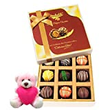 Valentine Chocholik Premium Gifts - Exotic Collection Of Truffles With Teddy