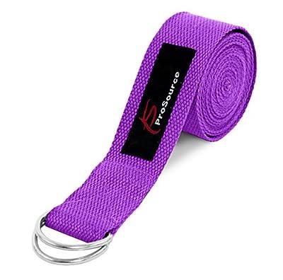 ProSource Metall D-Ring Yoga Strap 8'Robuster Baumwolle für Dehnung und Flexibilität