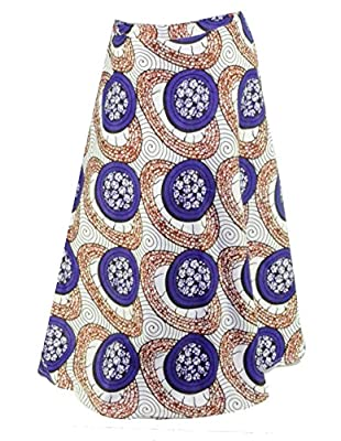 Fashion Island Womens Wrap Around African Style Skirt Printed Wax Dashiki