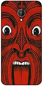 Snoogg Aztec Face Designer Protective Back Case Cover For Micromax Canvas Spark Q380