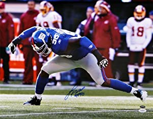 Jason Pierre-Paul Autographed New York Giants Photo - 16x20 - Witness - JSA Certified by Sports Memorabilia