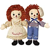 (Set of 2) Limited Edition Raggedy Ann And Andy Awake Asleep Dolls Vintage