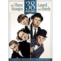 38 Features: The Three Stooges & Laurel and Hardy