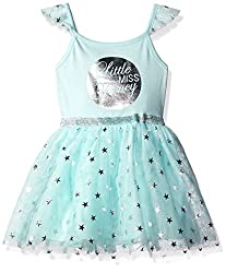 The Children's Place Girls' Slvls Ballerina Ktw Dress, Juniper, 12-18 Months
