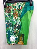 Flow Society Authentic Lacrosse Gear Mesh Shorts Performance Kiss Me I'm Irish Shamrock Ireland Green Size Youth Small