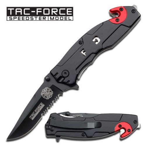 Tac Force Assisted Opening Rescue Fire Fighter Tactical Pocket Folding Stainless Steel Blade Knife Outdoor Survival Camping Hunting