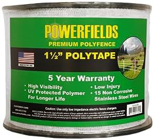 Powerfields EW15-660 1.5-Feet Polytape, 660-Feet, White