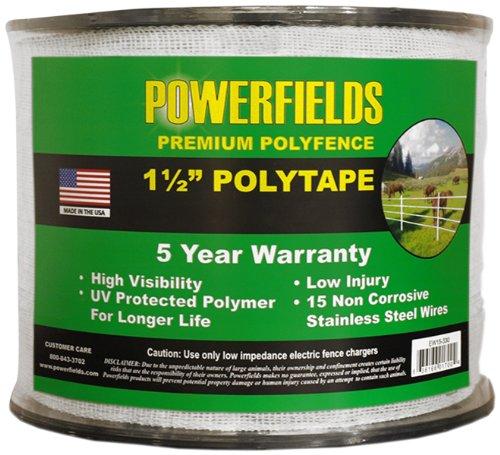 Powerfields Ew15-330 1.5-Inch Wide Polytape, 330-Feet, White