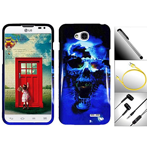 "Valuable Bundle / 4 In 1 For Lg Optimus L90 - 1 Extraordinary Elegant Artistic Design Snap-On Hard Cover Protector Case + 1 Random Color Handsfree Headset 3.5Mm Stereo Earphone + Garnet House 4""L Silver Stylus Touch Screen Pen + 1 Free Bonus 3 Feet (1M) T"