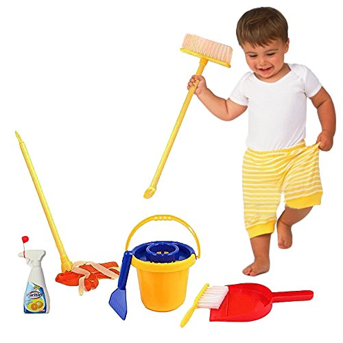 Toy Cubby Pretend and Play Mini Cleaning Set for Kids - 1 Set (Toddler Play Broom Set compare prices)